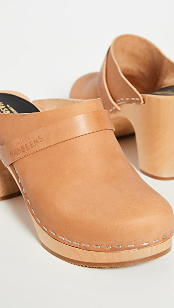Swedish Hasbeens Slip In Classic Clogs