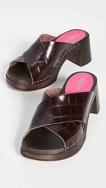 Swedish Hasbeens Anette 高跟木底鞋