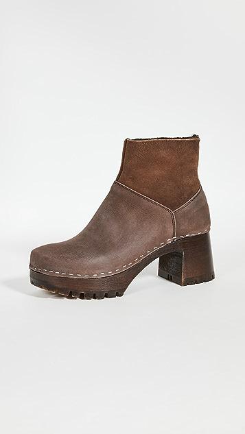 Swedish Hasbeens 一脚蹬短靴