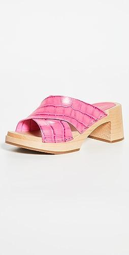 Swedish Hasbeens - Anette 高跟木底鞋