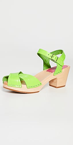 Swedish Hasbeens - Mirja Ankle Strap Clogs
