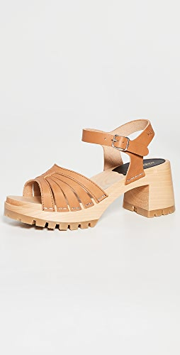 Swedish Hasbeens - Strap High Sandals