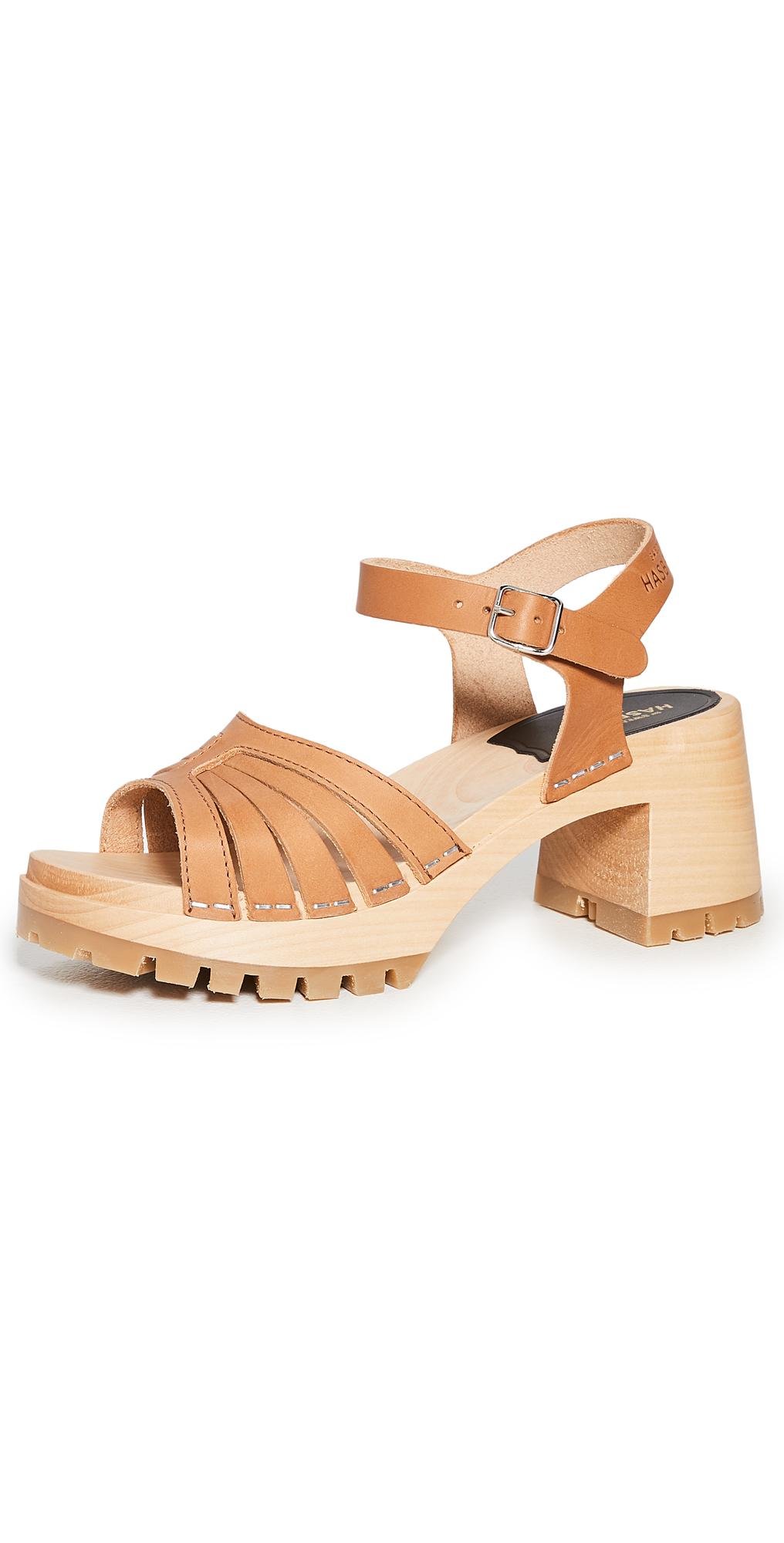 Swedish Hasbeens Strap High Sandals