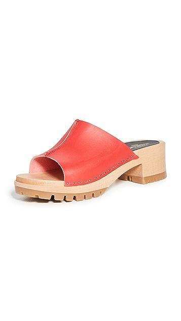 Swedish Hasbeens Ann 低跟木底鞋