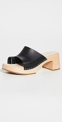 Swedish Hasbeens - 趾带木底鞋