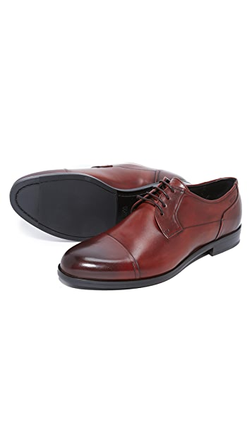 HUGO Burnished Toe Lace Up Derbies