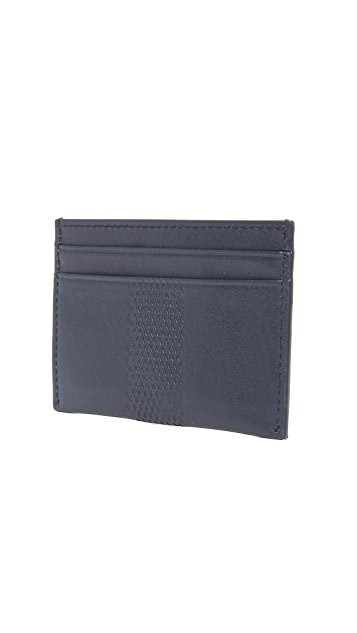 HUGO Embossed Leather Card Case