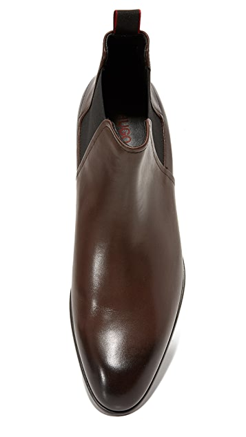 HUGO Burnished Calf Chelsea Boots