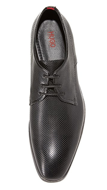 HUGO Hugo Boss Printed Brush Off Leather Derbys