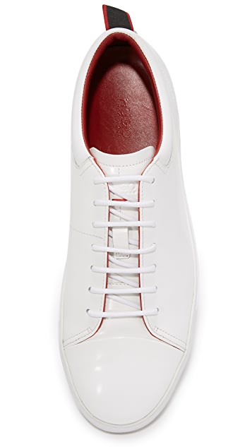 HUGO Brush Off Leather Sneakers