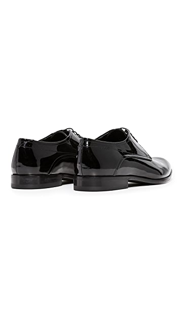 HUGO Dresspat Patent Lace Up Oxfords