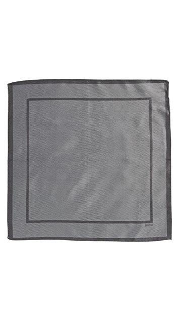 HUGO Border Pocket Square
