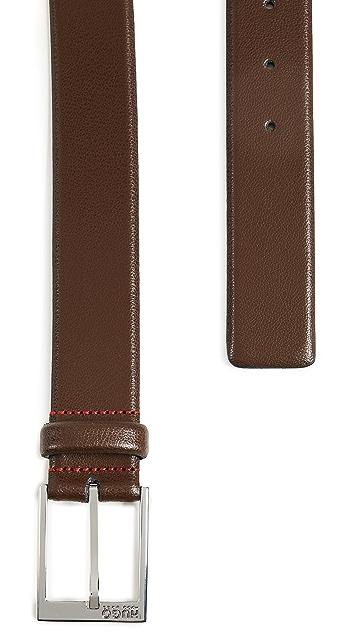 HUGO Hugo Boss Gellot Belt in Grainy Embossed Leather