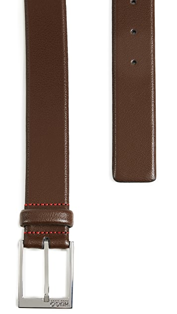 HUGO Gellot Belt in Grainy Embossed Leather