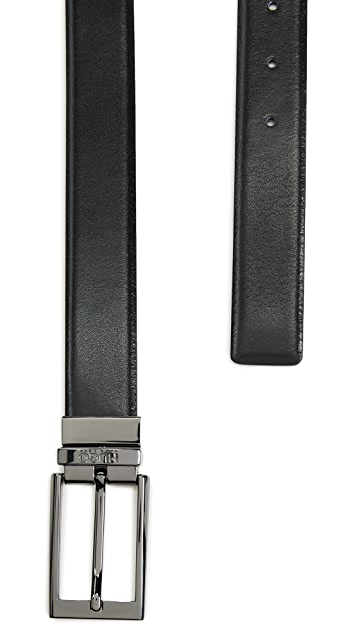 HUGO Reversible Elvio U Belt in Smooth Leather