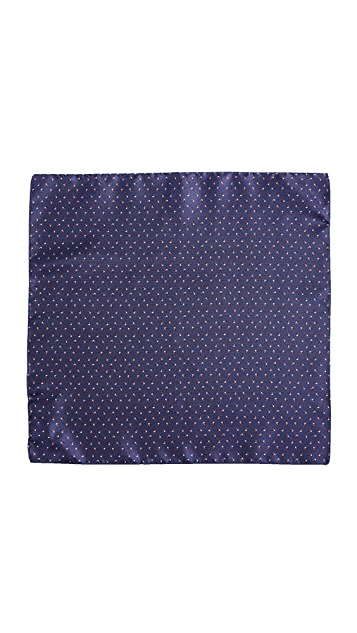 HUGO Hugo Boss Pinwheel Print Pocket Square