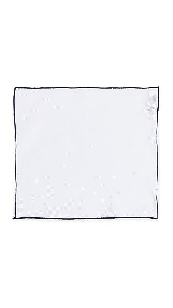 HUGO Tipped Pocket Square