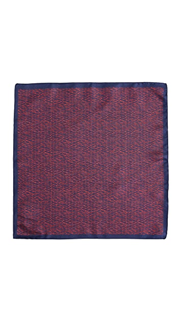 HUGO Scribble Print Pocket Square