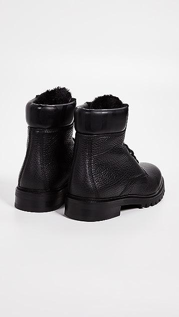 HUGO Hugo Boss Explore Grainy Leather Hiker Boots