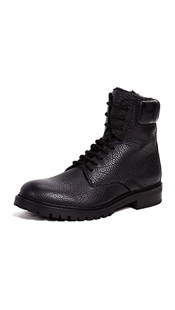 HUGO Hugo Boss Explore Grainy Leather Hiker Boots