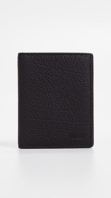 HUGO Victorian Leather Folded Card Case