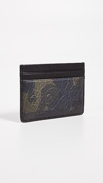 HUGO Victorian Camo Print Leather Card Case