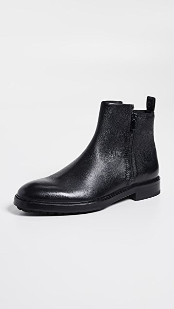 HUGO Bohemian Leather Zip Boots
