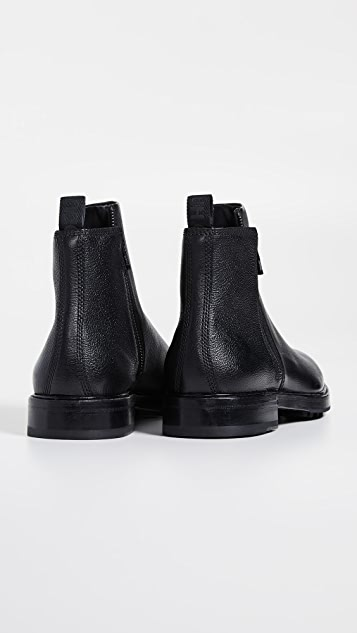 HUGO Hugo Boss Bohemian Leather Zip Boots
