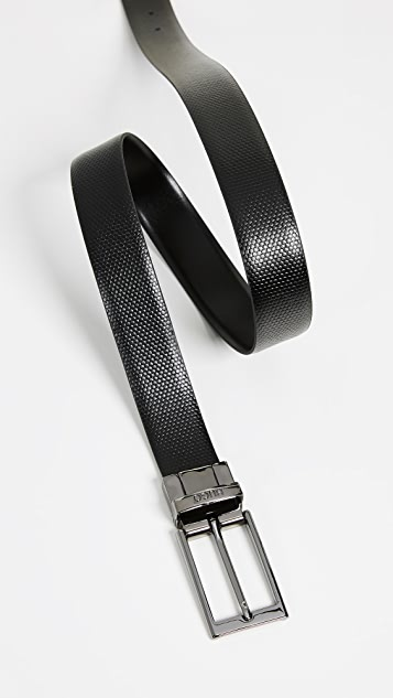 HUGO Gilvin Reversible Embossed Leather Belt