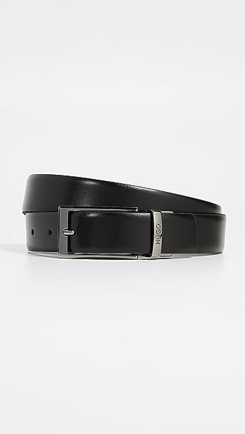 HUGO Hugo Boss Gilvin Reversible Embossed Leather Belt