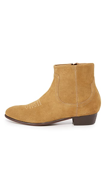 Hudson London Wyman Zip Boots