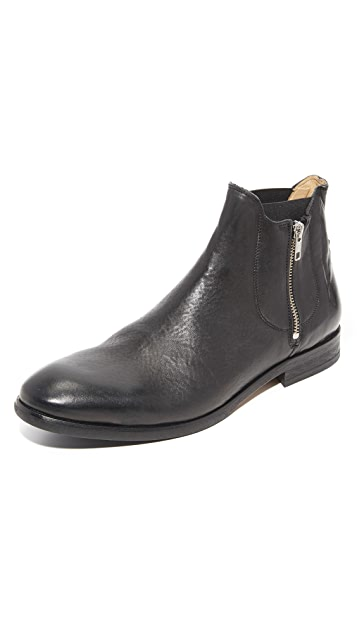Hudson London Mitchell Leather Double Zip Chelsea Boots