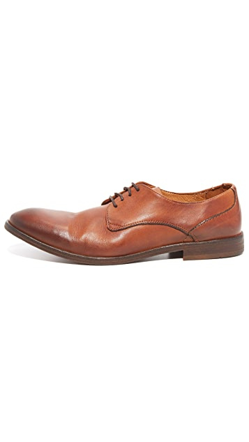 Hudson London Dylan Washed Leather Oxfords