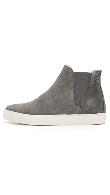 Hudson London Malby Suede Pull On High Top Sneakers