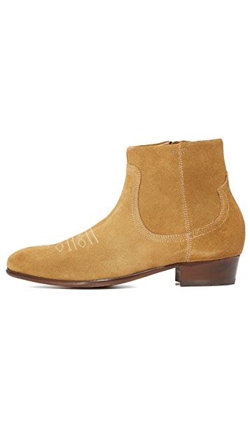 Hudson London Winston Suede Zip Boots