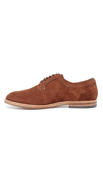 Hudson London Albany Suede Plain Toe Derby Shoes