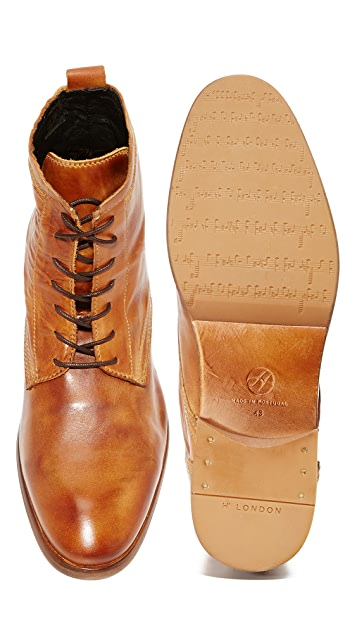 Hudson London Lennon Calf Lace Up Boots