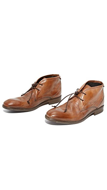 Hudson London Lyndon Leather Chukka Boots
