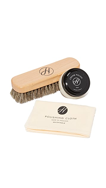 Hudson London Neutral Shoe Care Kit