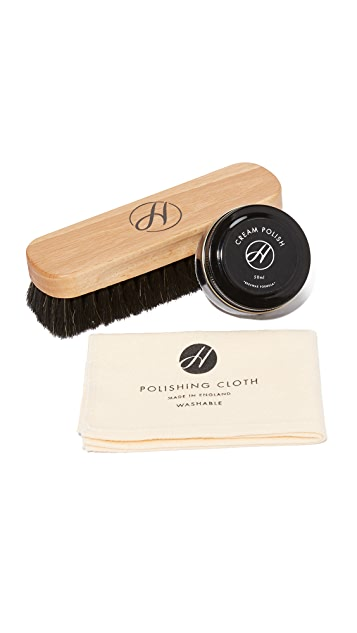 Hudson London Black Shoe Care Kit