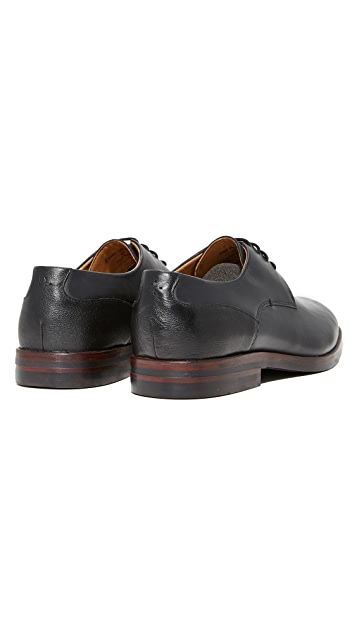 Hudson London Enrico Plain Toe Lace Up Oxfords