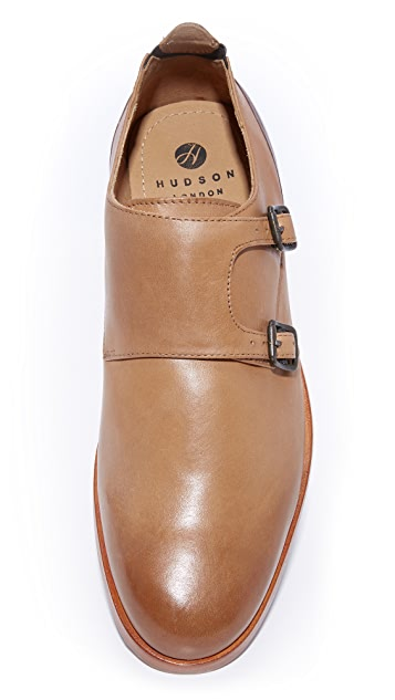 Hudson London Bromsden Double Monk Strap Shoes