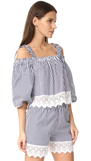 Holy Caftan Aliz Corto Cover Up Blouse