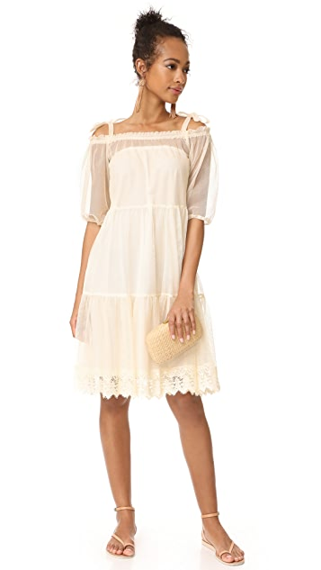 Holy Caftan Aliz Tulle Cover Up Dress