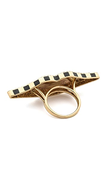 Holly Dyment 18k Gold Enamel Lip Ring