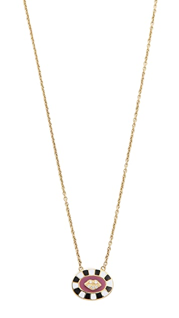 Holly Dyment Necklace with Mini Lip Pendant - Pink