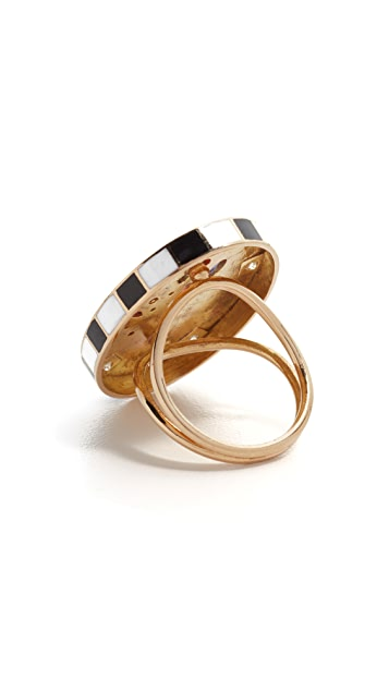 Holly Dyment 18k Gold Sunday Enamel Ring