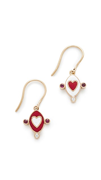Holly Dyment 18k Gold Go Lightly Heart Earrings