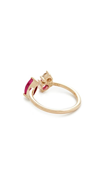 Holly Dyment 18k Gold Pink Sapphire Ring