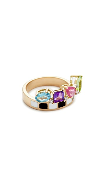 Holly Dyment Go Lightly Enamel Ring